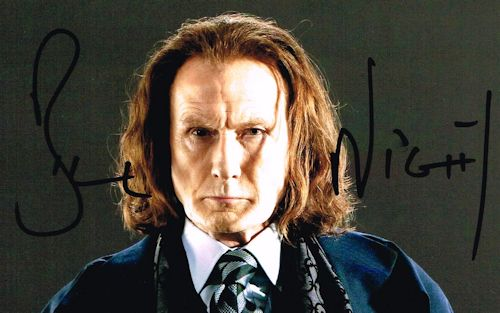 Bill Nighy Autograph Signed Photo Rufus Scrimgeour
